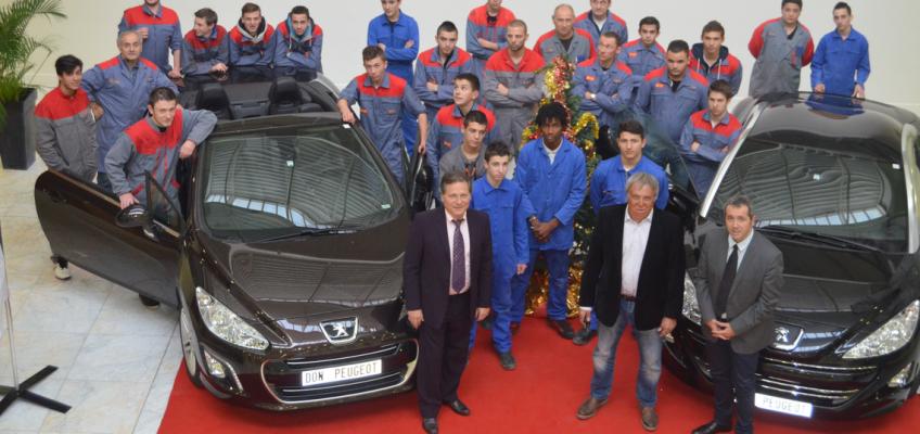 Don de Peugeot au CFA de la CMA66