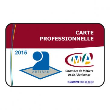 Carte artisan 2015