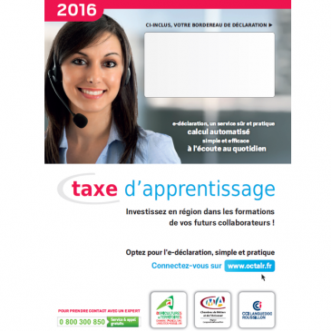Taxe d'apprentissage 2016