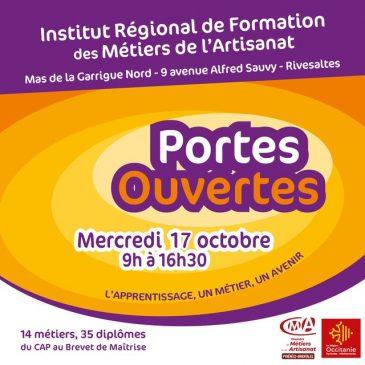Journée Portes Ouvertes à l'IRFMA – 17 octobre 2018