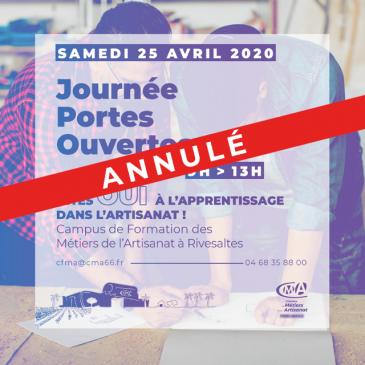 Annulation journée Portes Ouvertes au CFMA – Samedi 25 avril 2020