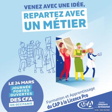 Journée Portes Ouvertes au CFMA Mercredi 24 mars 2021