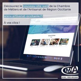 site web Chambre de Métiers et de l'Artisanat de Région Occitanie