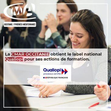 Certification Qualiopi de la CMAR Occitanie